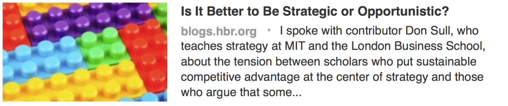 Strategic or Opportunistic